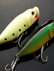 "1 pcs Fishing Tools Fishing Lures Pike Dark Green luminous/Fluorescent g/Ounce,61 mm/2-3/8"" inch,Plastic Bait Casting"