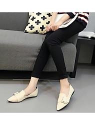 Для женщин Ботинки С Т-образной перепонкой Резина Лето Повседневные Белый На плоской подошве