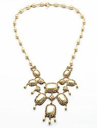 Mulheres Colares com Pendentes Formato Oval Estilo bonito Dourado Jóias Para 1peça