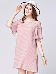 Maternity Summer Wear Fashionable Sweet Fashion  Pleated Lace Stitching Chiffon Lace  Leisure Pregnant Women Dress