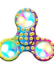 Spinners de mão Mão Spinner Brinquedos Tri-Spinner LED Spinner Plástico EDCLuz LED O stress e ansiedade alívio Brinquedos de escritório