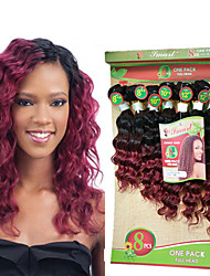 8-14inch 8 pcs /lot Brazilian deep wave ombre burgundy Virgin Hair bundles brazilian Hair Weave Bundles cheap human hair weft