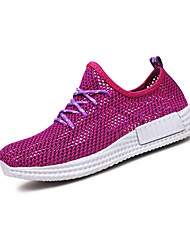 Women's Athletic Shoes Spring Summer Comfort PU Outdoor Athletic Casual Flat Heel Hollow-out Running