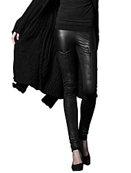 Femme Sexy Street Chic Punk & Gothic Taille Normale strenchy Chino Pantalon,Mince Slim Mosaïque Couleur Pleine
