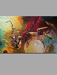 Hand Painted Oil Painting Musical Instruments Wall Art with Stretched Framed Ready to Hang