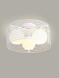 Wrought Iron Bedroom Light LED Ceiling Lamp Living Room Simple Modern Round Warm Room Ceiling Lamp