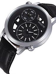 SKONE Pánské Módní hodinky Křemenný Kůže Kapela Černá Hnědá