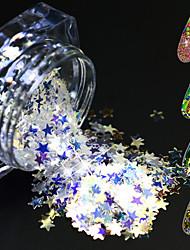 1 bouteille mode design coloré magique ongle art paillette paillette brillant fine tranche fleur mignon étoile triangle éblouissante coupe