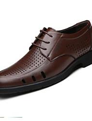 Herren-Sneakers Frühjahr Komfort Leder lässig braun schwarz weiß