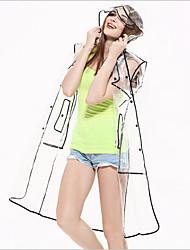 EVA Transparent Raincoat Adult Fashion Rain Gear Environmental Protection Razor Outdoor Windbreaker Creative Raincoat Free size