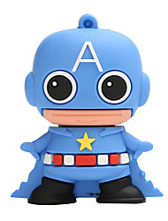 Novo cartoon criativo americano capitão usb 2.0 128gb flash drive u memory stick disco
