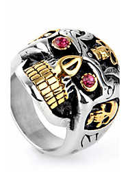 Ring Statement Rings Euramerican Fashion Punk Hip-Hop Personalized Rock Titanium Steel Skull / Skeleton Assorted Color Jewelry For Party