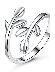 Ring Unique Design Platinum Plated Leaf Silver Jewelry For Wedding Party Special Occasion 1pc