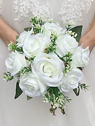 Свадебные цветы Круглый Розы Букеты Свадебное белье Атлас 22 см