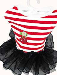 Chien Robe Vêtements pour Chien Hiver Eté Printemps/Automne PrincesseMignon Classique Mariage Anniversaire Vacances Mode Décontracté /