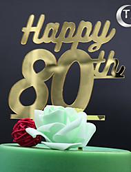 Decorações de Bolo Não-personalizado Monograma Acrilíco Aniversário Tema Clássico PPO