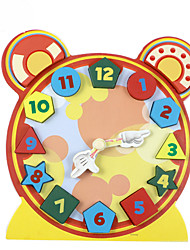 Building Blocks Educational Toy For Gift  Building Blocks Clock Wood 2 to 4 Years 5 to 7 Years 8 to 13 Years Toys