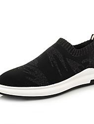Men's Sneakers Summer Comfort Fabric Casual Flat Heel Black