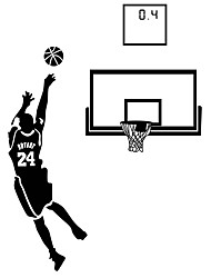 Wall Stickers Wall Decals Style Play Basketball PVC Wall Stickers