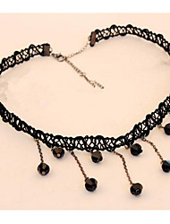 Euramerican Choker Pendant Tassl Necklace Women Office Lady Jewelry for Women Bohemian British Gifts
