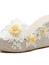 Femme-Habillé--Talon Compensé-Flower Girl Chaussures-Sandales-Polyuréthane