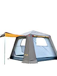 5-8 Personen Zelt Einzeln Automatisches Zelt Einzimmer Camping Zelt 2000-3000 mm Glasfaser OxfordFeuchtigkeitsundurchlässig Wasserdicht