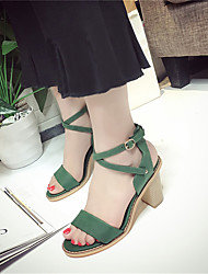 Women's Sandals Spring Summer Club Fashion All Match Shoes Gladiator Comfort Dress Casual Chunky Heel Buckle