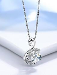 Femme Filles´ Colliers chaînes Argent sterling Basique Blanc Bleu clair Bijoux Pour Quotidien Décontracté 1 Pièce
