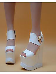 Женские каблуки весенние клубные туфли pu casual серебристый черный белый