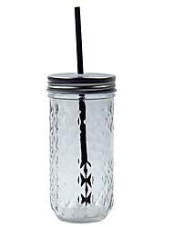Copo de vidro transparente do café da estrutura do diamante de 301-400ml