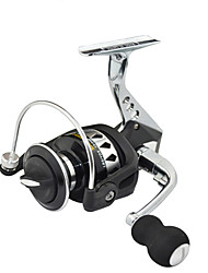 SHISHAMO Spinning reel Full Metal Body 5.5:1, 12+1 Ball Bearings with One Way Clutch Spinning Reel, Left & Right Hand Exchangble