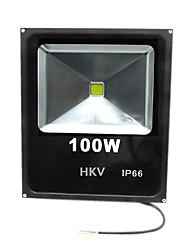 1 шт. Hkv® 100w 8850-9950lm 2800-3200k 6000-6500k теплый белый холодный белый светодиодный прожектор (ac 85-265v)