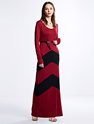 Women's Sexy Party Casual Long Sleeve Maxi Dress