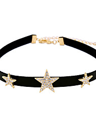 Women's Choker Necklaces Star Chrome Unique Design Euramerican Black Jewelry For Casual Christmas Gifts 1pc
