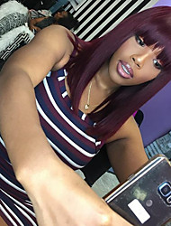 New Style Brazilian Virgin Hair Bob Wigs Straight Lace Front Human Hair Wigs Short Virgin Hair Wig with Bang