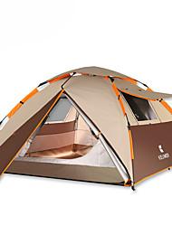 3-4 Personen Zelt Doppel Automatisches Zelt Einzimmer Camping Zelt 2000-3000 mm OxfordFeuchtigkeitsundurchlässig Wasserdicht
