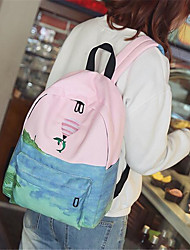 Women Sports & Leisure Bag Canvas All Seasons Sports Outdoor Professioanl Use Camping & Hiking Climbing Zipper Blue Green Blushing Pink