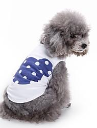 Коты Собаки Футболка Жилет Одежда для собак Лето Мультфильмы Милые Мода На каждый день