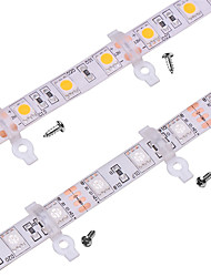 100 Pack -Strip Light Mounting Bracket Clip for Outdoor Silicone Covered 10mm Wide PCB Waterproof SMD5050 LED Strips