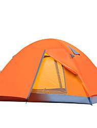 2 Pessoas Tenda Duplo Tenda Dobrada Um Quarto Barraca de acampamento 2000-3000 mm Fibra de Vidro Oxford Á Prova de Humidade Prova-de-Água