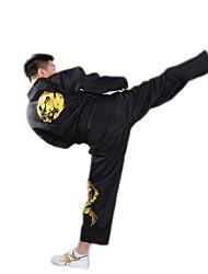 Embroidered Dragon Taekwondo Black Uniform