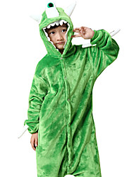 Kigurumi Pijamas Monstro Collant/Pijama Macacão Festival/Celebração Pijamas Animais Dia das Bruxas Verde Animal FlanelaFantasias de