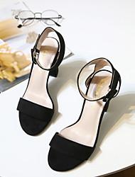 Women's Heels Ankle Strap Pigskin Dress Almond Black