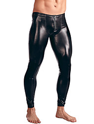 Sexy Solid Long Johns,Patent Leather
