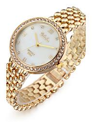 Mulheres Relógio Elegante Relógio de Moda Relógio de Pulso Bracele Relógio Quartzo / imitação de diamante Aço Inoxidável BandaLegal
