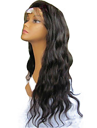 Free Parting Wig Virgin Brazilian Hair Glueless Full Lace Human Hair Wigs Natural Color Hair with Baby Hair Loose Wave Full Lace Wigs for Black Women