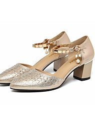Damen-Sandalen-Lässig-PUClub-Schuhe-Schwarz Champagner