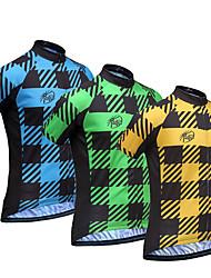 Maglia da ciclismo Per uomo Manica corta Bicicletta Maglietta/Maglia Asciugatura rapida Traspirante Morbido Materiali leggeri Tasca