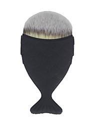 1 Foundationbørste Syntetisk hår syntetisk Bærbar Plast Ansikt Andre