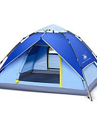 徽羚羊 3-4 persons Tent Double Automatic Tent One Room Three Rooms Camping Tent OxfordWaterproof Breathability Ultraviolet Resistant